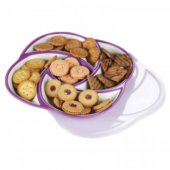Oliveware Plastic Dry Fruit Candy Container - Purple