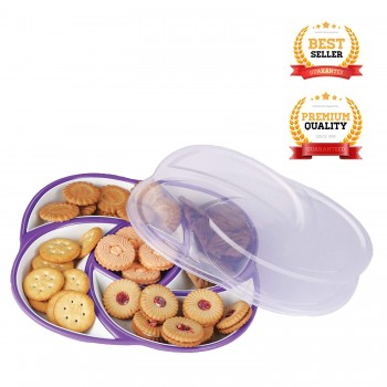 Oliveware Plastic Dry Fruit Candy Container - Purple 2