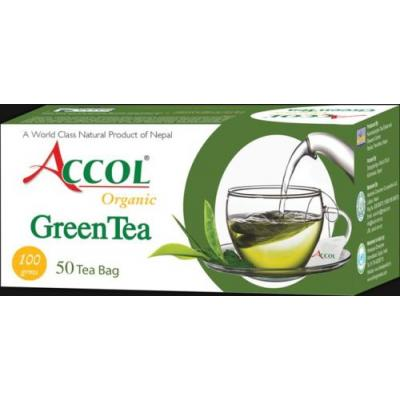 Accol Organic Green Tea Bag 100 Gm