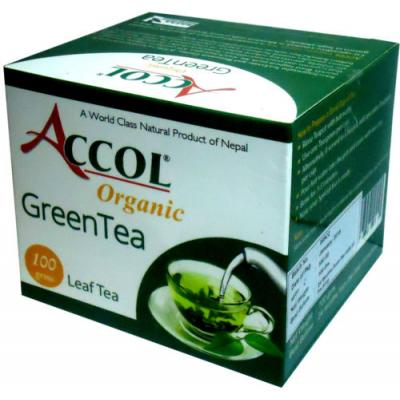 Accol Organic Green Tea Leaf 100 Gm 1