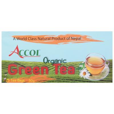 ACCOL Organic Green Tea Bag 50 gm