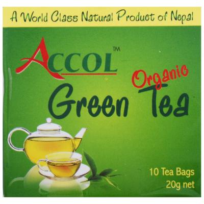 ACCOL Organic Green Tea Bag 20 Gm