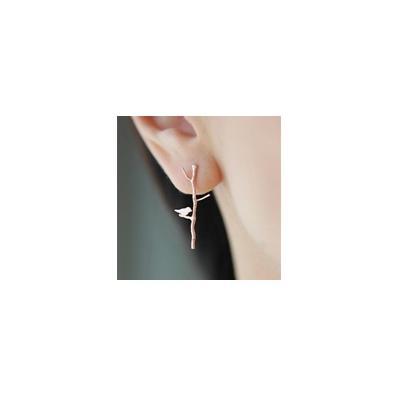 bird branch earring
