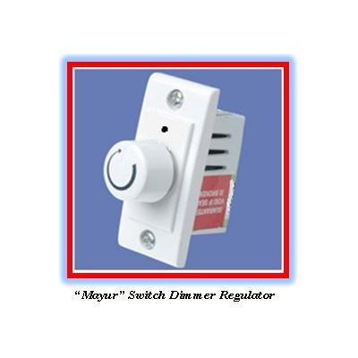 Mayur Brand, Fan Regulator, Switch Dimmer/volume Type Model,