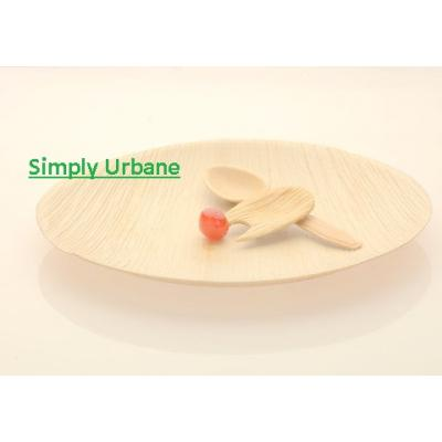 Palm 10.25Round | 100% Natural| Disposable Dinner Plate Elegant, Wood finish for Restaurant/ Cater