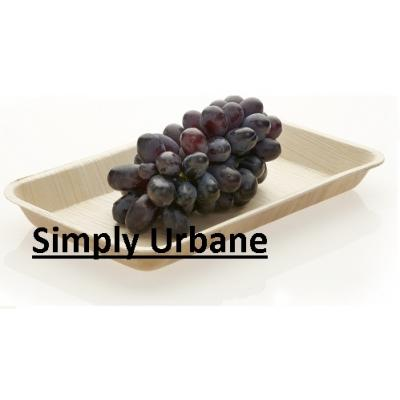 Palm 9Rectangle Tray| 100% Natural| Disposable Dinner Plate Elegant, Wood finish for Restaurant/ C