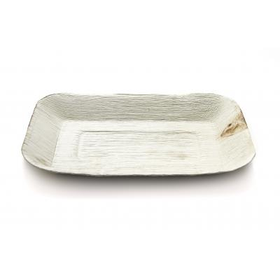 10/6 inch Disposable Rectangular Areca Palm Leaf Platter