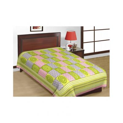 Saganeri and Jaipuri Printed Cotton Single Bedsheets Combo(No Pillow Cover) 4