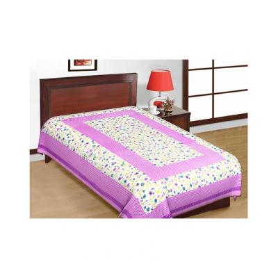 Saganeri and Jaipuri Printed Cotton Single Bedsheets Combo(No Pillow Cover) 2