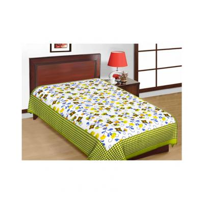 Saganeri and Jaipuri Printed Cotton Single Bedsheets Combo(No Pillow Cover) 1