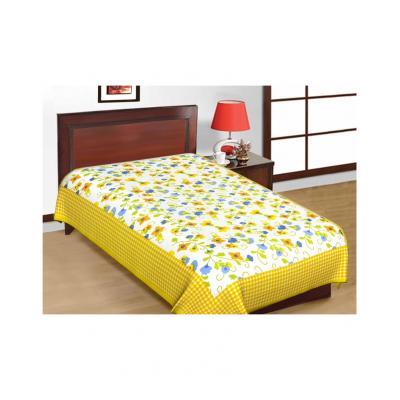 Saganeri and Jaipuri Printed Cotton Single Bedsheets Combo(No Pillow Cover) 4