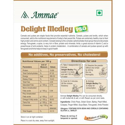 Ammae Delight Medley Pro (Multigrain Porridge Powder with Amla and Methi), 200g 2