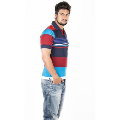 Red and Blue Combination Polo T-Shirt 1