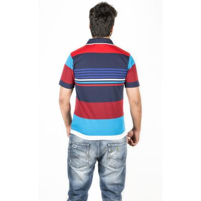 Red and Blue Combination Polo T-Shirt 2