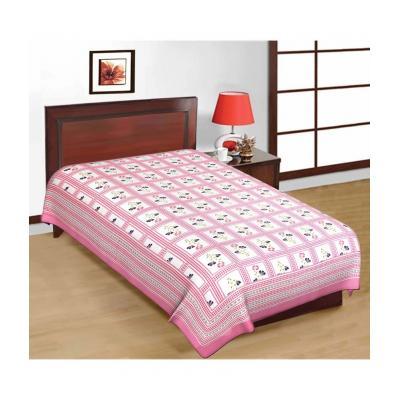 Saganeri & Jaipuri Printed Cotton Single Bedsheets Combo (No Pillow Covers) 1