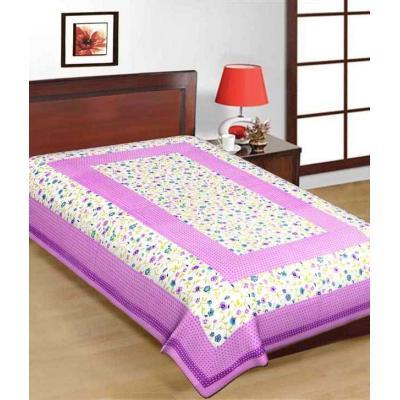 Saganeri & Jaipuri Printed Cotton Single Bedsheets