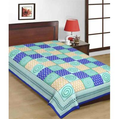 Saganeri & Jaipuri Printed Cotton Single Bedsheets 1