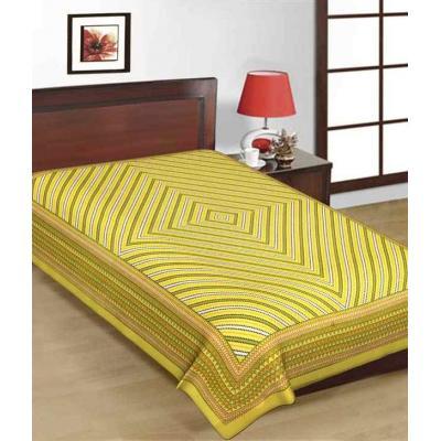 Saganeri & Jaipuri Printed Cotton Single Bedsheets 1