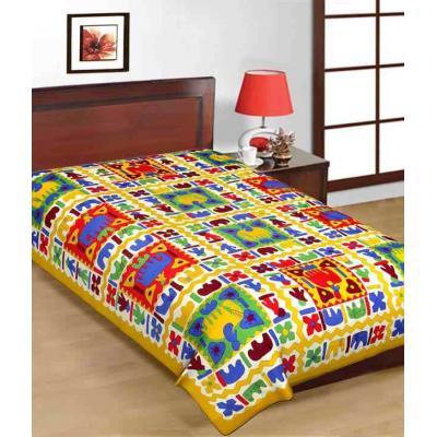 Saganeri & Jaipuri Printed Cotton Single Bedsheets 4