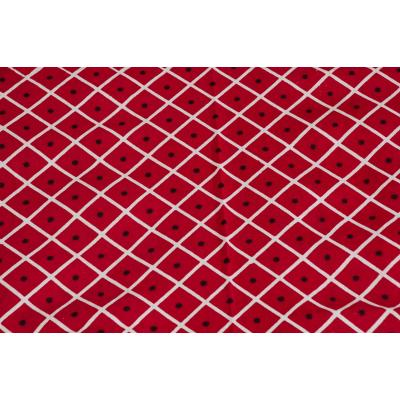 Jaipuri Printed New Traditional Checkered Single Bed Sheet 2