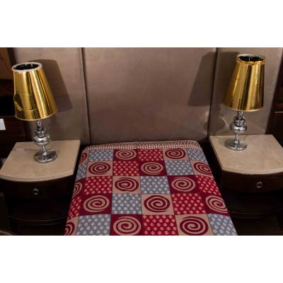 Kismat Collection Jaipuri Printed New Traditional Checkered Single Bed Sheet 1