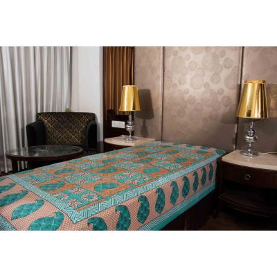 Jaipuri Printed New Traditional Checkered Single Bed Sheet