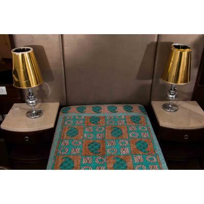 Jaipuri Printed New Traditional Checkered Single Bed Sheet 1