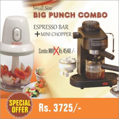 Clearline espresso bar mini chopper combo buy at for Mini coffee bar