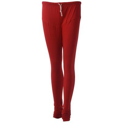 Ssuviddhy Eco Cotton Leggings Red - Free Size
