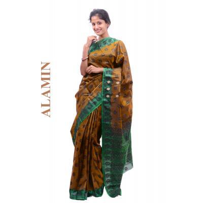 Silk Golden Saree - ALMN