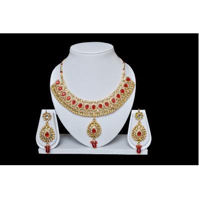 Rajwadi Necklace Set (Imitation)