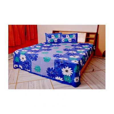 Sanganeri Jaipuri Rajasthani Printed Double Bedsheet THH-17
