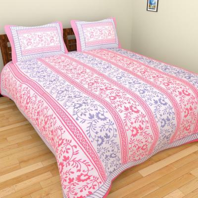 Sanganeri Jaipuri Rajasthani Printed Double Bedsheet THH-101