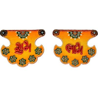 Kundan Work Fan Shape Shubh Labh Door Hangings