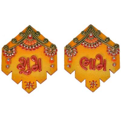 Kundan Work Handmade Shubh Labh Door Hangings