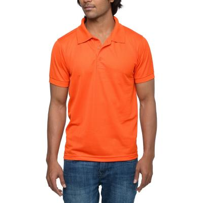 Mens Orange Polo T-shirt