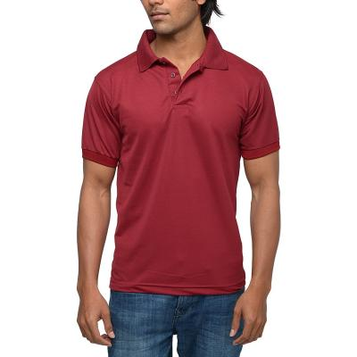 Mens Maroon Polo T-shirt
