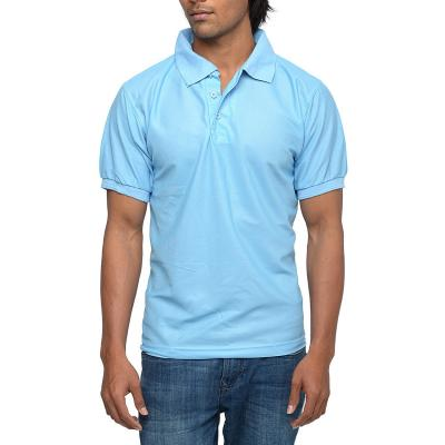 Mens Light Blue Polo T-shirt