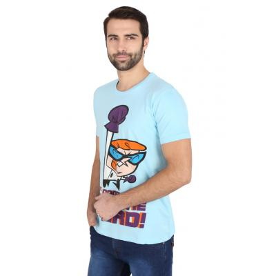 Planet Superheroes - Dexter - Dont Mess With The Nerd Light Blue T-Shirt 1