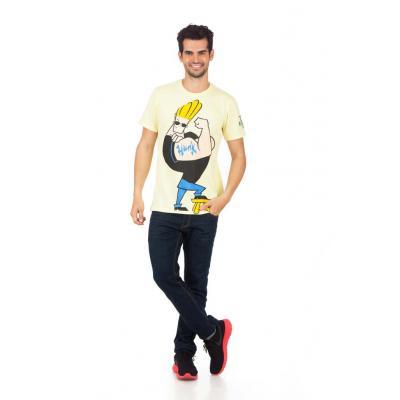 Planet Superheroes - Johnny Bravo - The Hunk Yellow T-Shirt 1