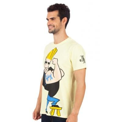 Planet Superheroes - Johnny Bravo - The Hunk Yellow T-Shirt 2