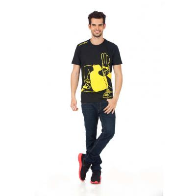 Planet Superheroes - Johnny Bravo - On Phone Black T-Shirt 1
