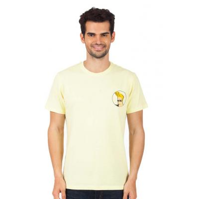 Planet Superheroes - Johnny Bravo - On Back Yellow T-Shirt