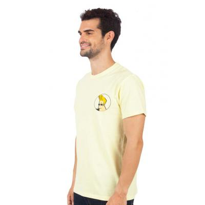 Planet Superheroes - Johnny Bravo - On Back Yellow T-Shirt 2