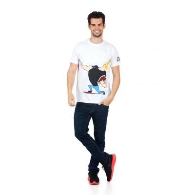 Planet Superheroes - Johnny Bravo - The Love Machine White T-Shirt 1