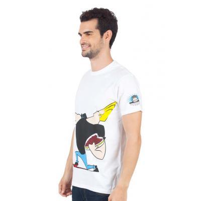 Planet Superheroes - Johnny Bravo - The Love Machine White T-Shirt 2