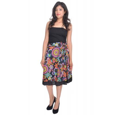 Uttam  Cotton Printed Black Color  Skirt