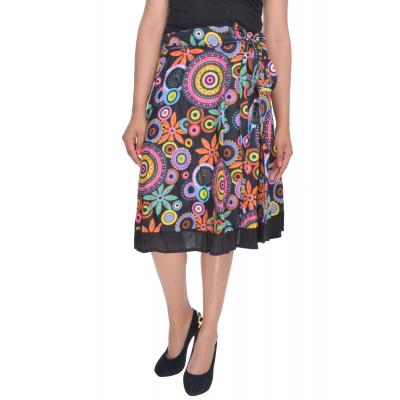 Uttam  Cotton Printed Black Color  Skirt 3