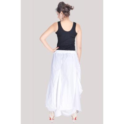 Uttam Cotton Plain White Color Long Skirt 3