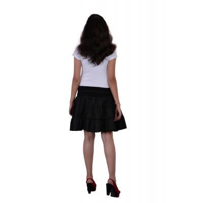 Uttam Cotton Plain Black Color Short Skirt 3